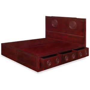rosewood longevity design king size platform bed w drawers