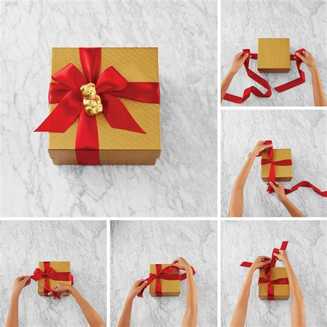 how to tie a christmas bow with ribbon lindtspiration