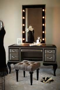 Bedroom Makeup Chair Aico Swank Vanity Mirror With Wall
