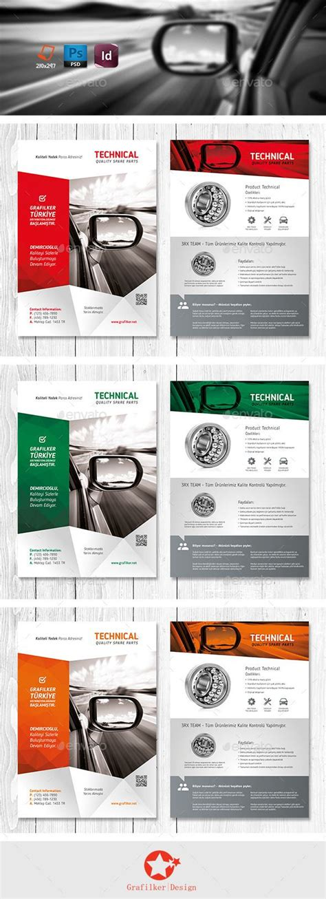 technical data product flyer templates design flyers