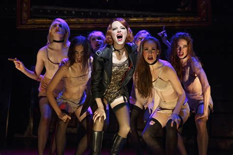 emma stone in cabaret emma stone in cabaret photographs new york theater