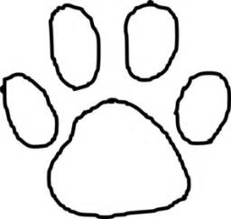 Tiger Paw Print Outline Clip Art  Vector Online Royalty sketch template