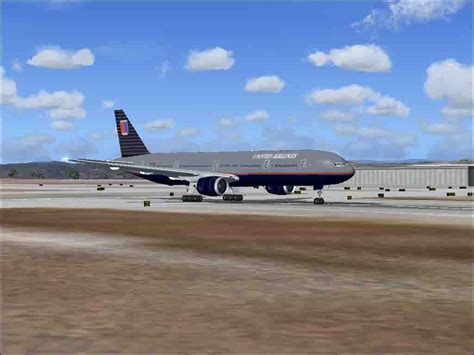 United Flight | united airlines boeing 777 300 for fs2004