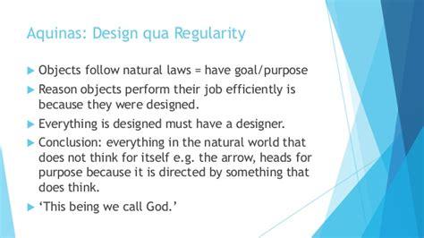 design qua regularity teleological argument aquinas