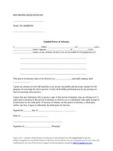 limited power of attorney template limited power of attorney form 37 free templates in pdf