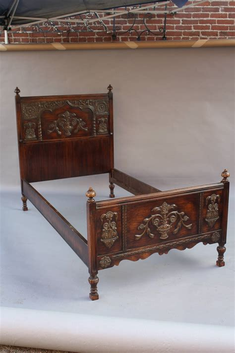antique twin beds antique pair of spanish revival twin beds at 1stdibs