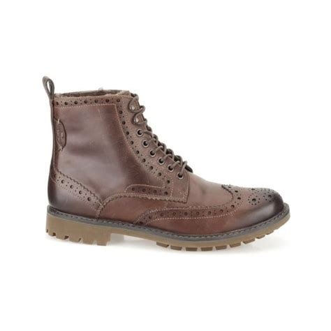 mens wool lined boots clarks mens montacute lord brown wool lined boots