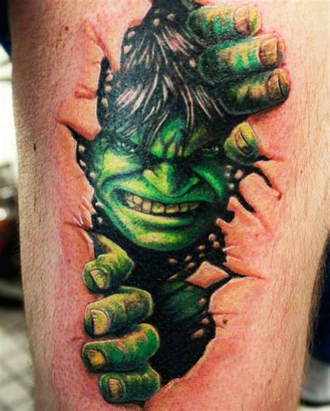 incredible hulk tattoos best 25 ideas on