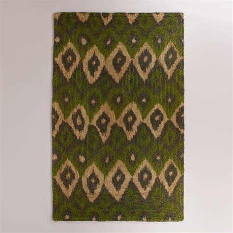 green ikat rug 5 x8 green ikat braided jute bima area rug world market