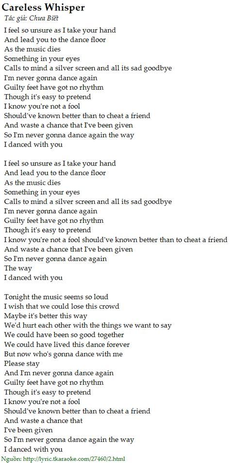 Play A Whisper On Pillow Lyrics Careless Whisper C 243 Nhạc Nghe