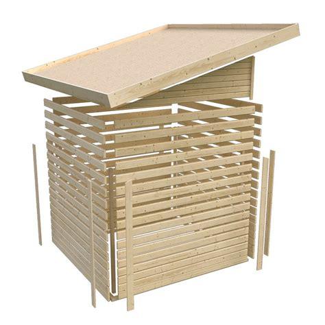 abri toit plat 9 24m 178 en bois vitrifi 233 gris 19mm tinkenau