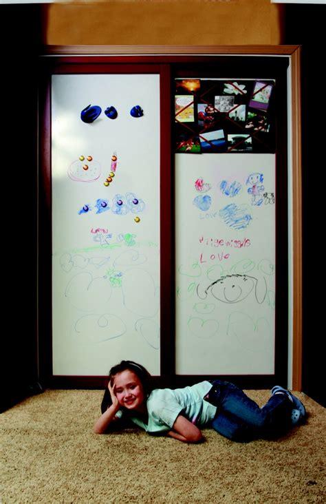 Magnetic Dry Erase Board Closet Doors Cabinet Door Make Magnetic Closet Doors