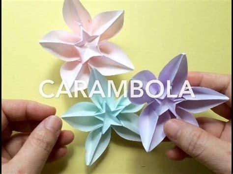 Carambola Origami - 折り紙 スターフルーツ origami carambola fruit