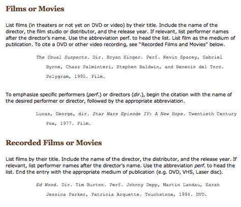 film mla in text citation quotes work cited mla quotes