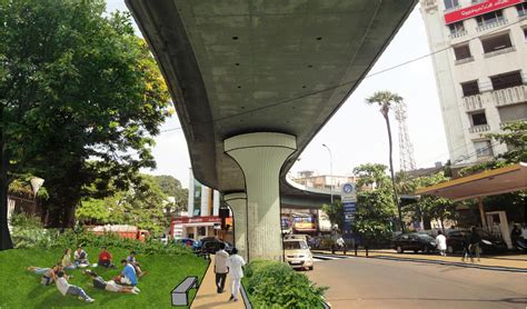 Space Planning under the flyover ksm architecture
