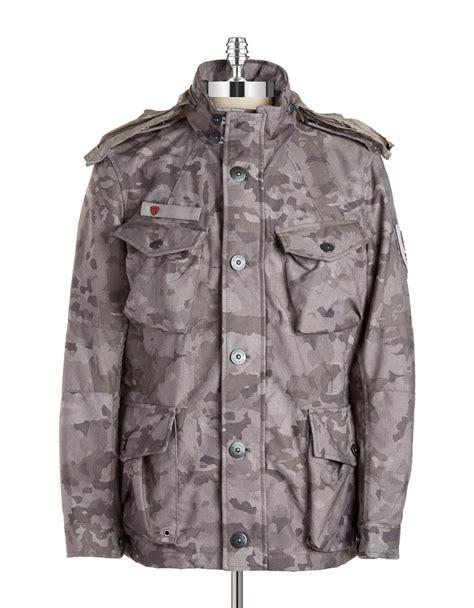 Jacket Coat Parka Strellson Original strellson camoflauge ranger jacket in gray for lyst