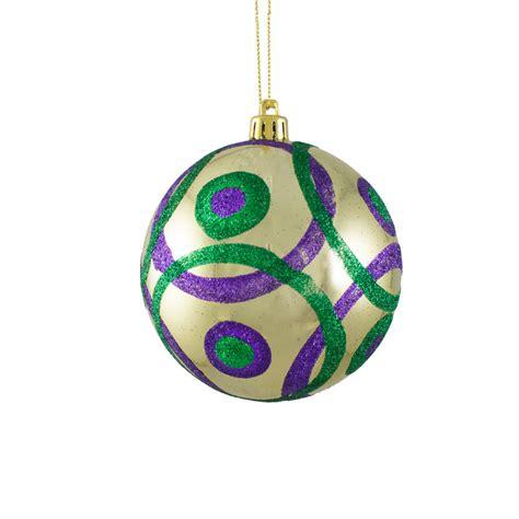 100mm glitter circles ball ornament mardi gras xh935558