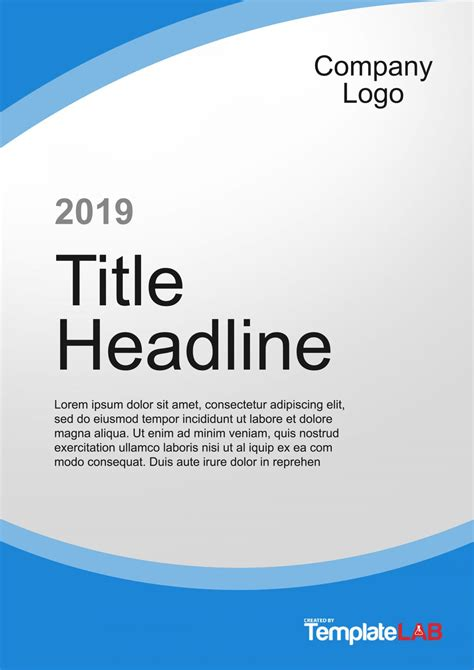amazing cover page templates word psd templatelab
