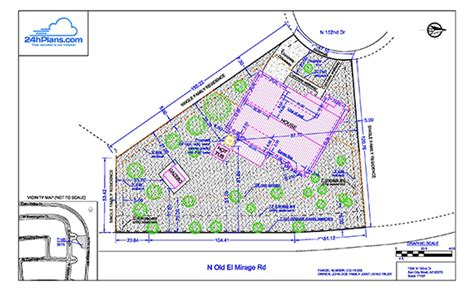 site plan drawings 24h site plans for building permits plot plan site plan