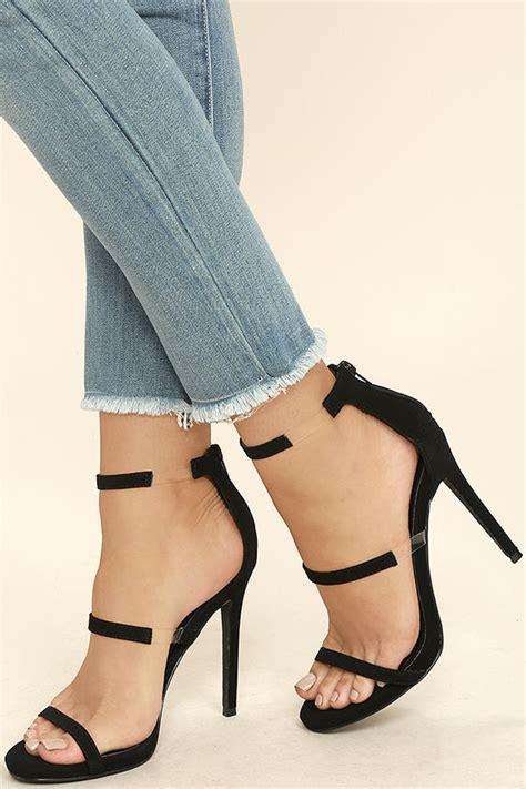 high heeled sandals chic black heels nubuck heels high heel sandals