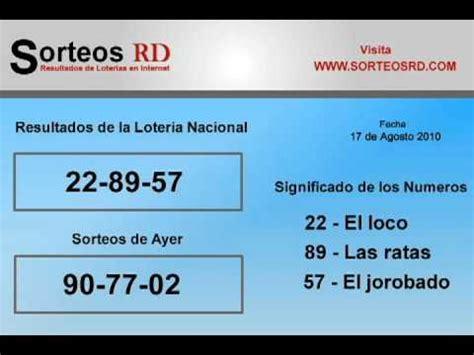 loteria nacional resultados de hoy resultados de loteria nacional youtube