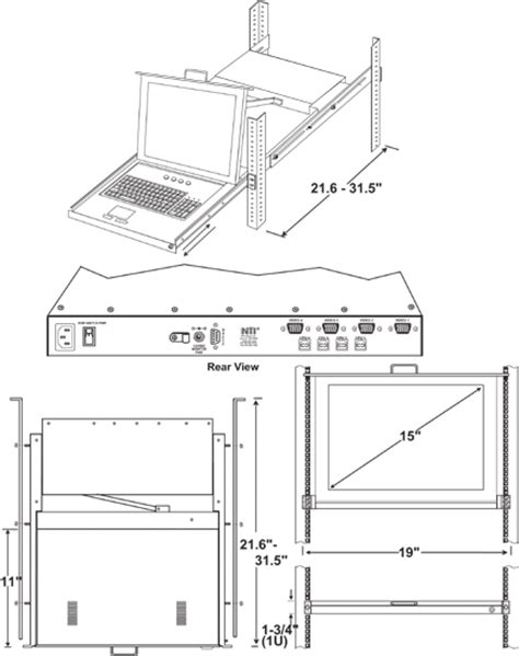 Cad Drawer by Rackmount Kvm Drawer Switch Cad Drawing 15 Quot Lcd Kvm