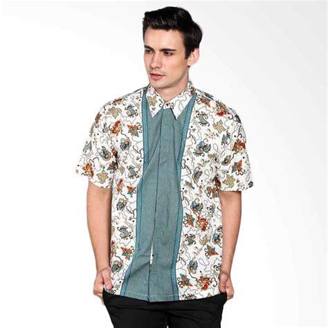 Baju Kemeja Batik Biru Cowok Pria jual batik distro k7790 motif pola tengah kemeja pria biru harga kualitas terjamin