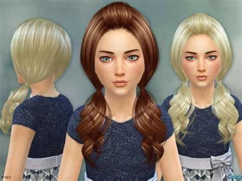 hair children for sims 4 sims 4 hairs the sims resource ellie hair set by cazy