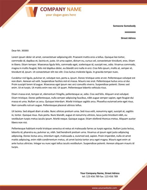 company letterhead template word template idea