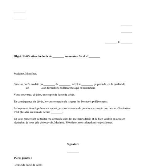 Exemple De Lettre Demande De Grace Impot Lettre De D 233 Claration De D 233 C 232 S Au Centre Des Imp 244 Ts
