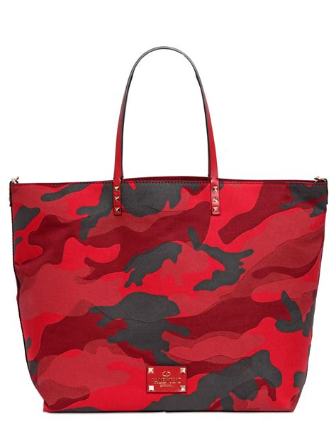 Patchwork Tote Bag - valentino camouflage patchwork tote bag in lyst