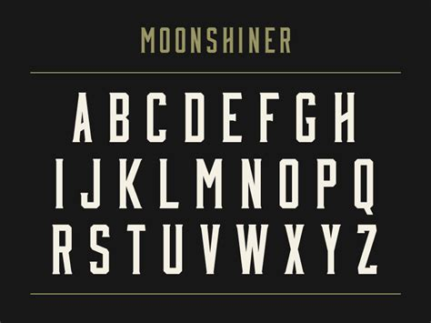 best free bold fonts moonshiner new free typeface by mattox shuler dribbble