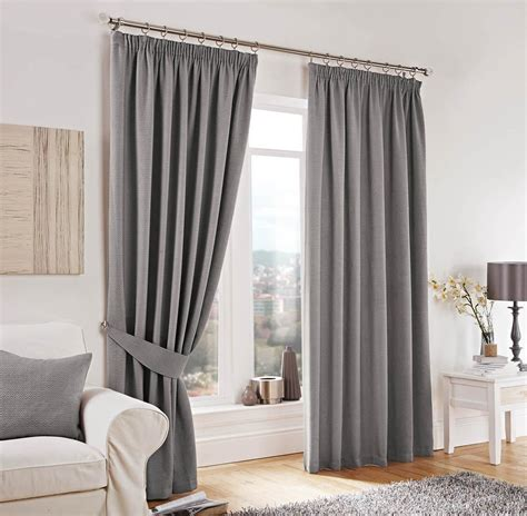 Design Kitchen Curtains by Lincoln Lined Curtains Silver Free Uk Delivery Terrys