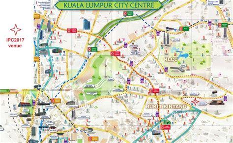 kuala lumpur map tourist attractions travel info ipc2017