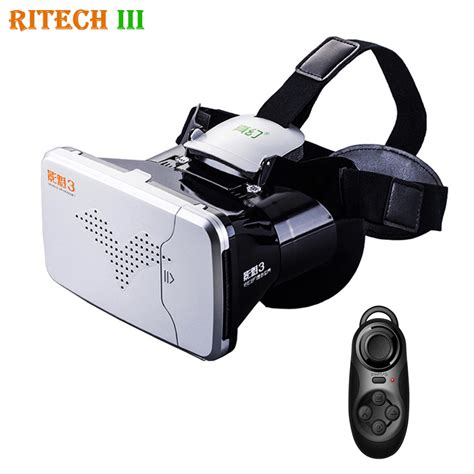 Vr Cardboard Third Generation Leather Mount 3d Reality aliexpress buy ritech 3 iii riem3 vr reality 3d glasses headset mount