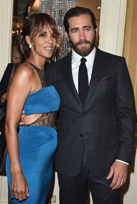 Halle Berry Has A New Dating Strategy by Halle Berry Flaunts Figure In Lace Dress At