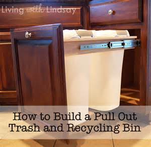 how to build a pull out trash and recycling bin makely