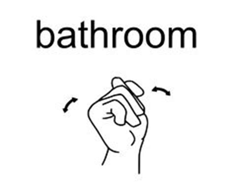 bathroom in asl 1000 images about sign language on pinterest sign language american sign language