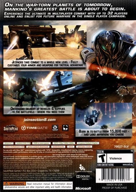 section 8 complaints contact section 8 2009 xbox 360 box cover art mobygames