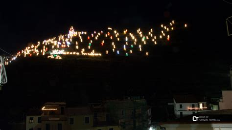 the winter nativity scene in manarola