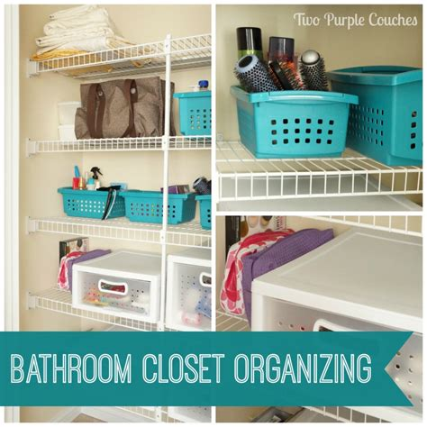bathroom storage closet bathroom closet storage put a bin in it two purple couches
