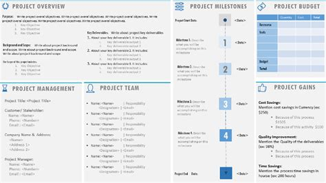 project charter template ppt project management templates