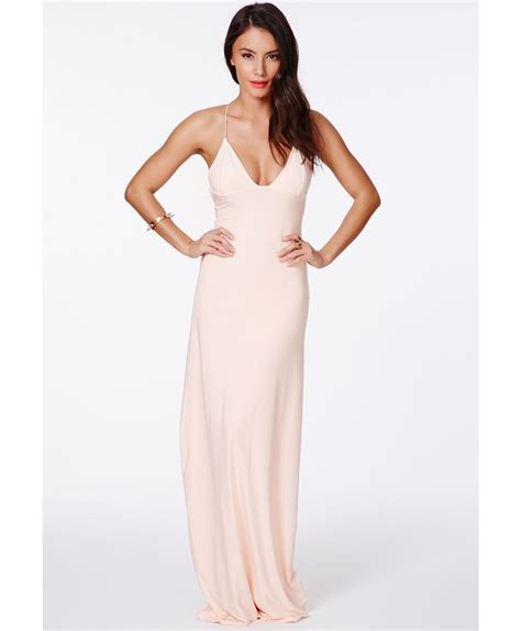 Missguided Karinka Slinky Strappy Maxi Dress **** in Natural   Lyst