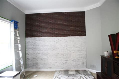 painting faux brick paneling painting faux brick home decor
