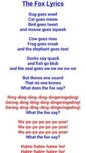 What did the fox say lyrics tags what does the fox say