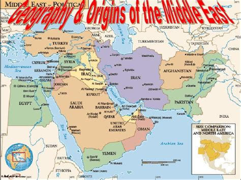 middle east map landforms middle east geography ppt