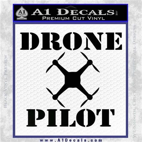 Drone Pilot Black drone pilot sq decal sticker 187 a1 decals