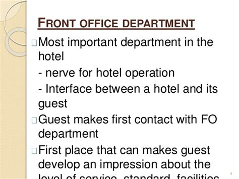 Hotel Front Desk Responsibilities Introduction To Front Office