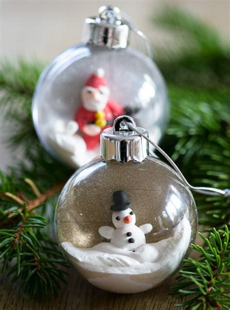diy christmas ornaments of plastic baubles shelterness