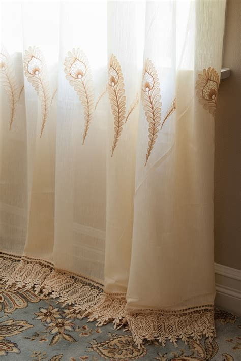 gold patterned sheers yellow feather pattern sheer curtains gold